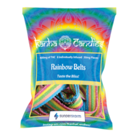 NEW!  Kanha Candies Rainbow Belts