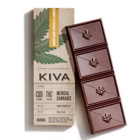 Kiva Ginger Dark Chocolate CBD
