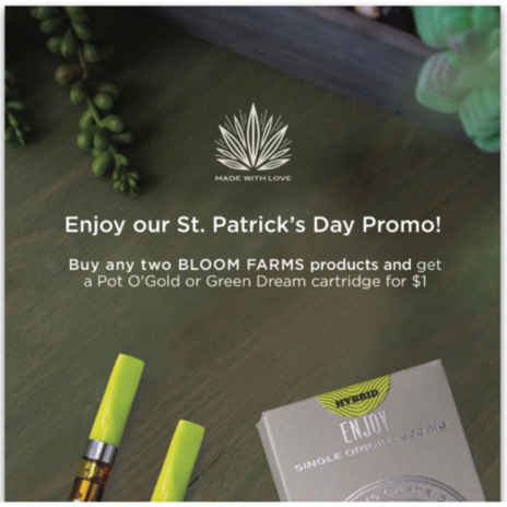 $1 Bloom Farms St. Patrick's Day Promo!