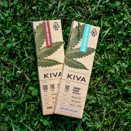 Kiva Mint Irish Cream Milk Chocolate Bar